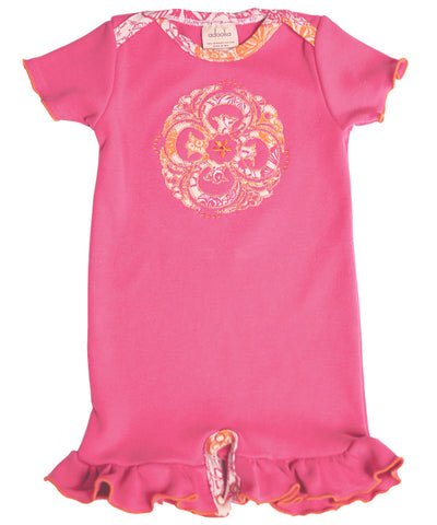 Medallion applique romper