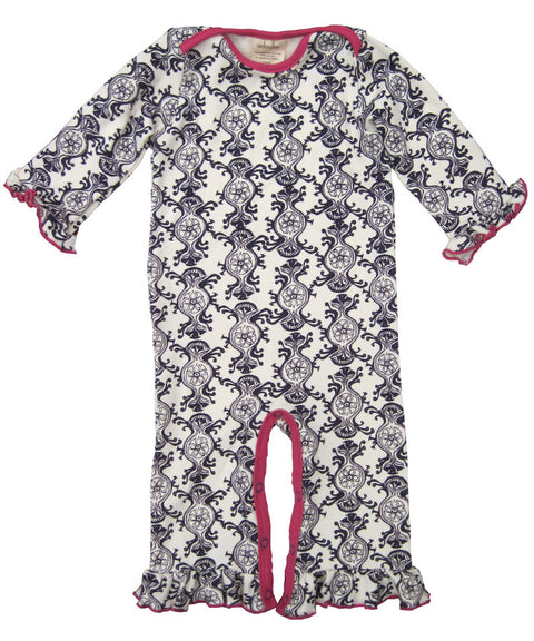 Victorian wallpaper romper
