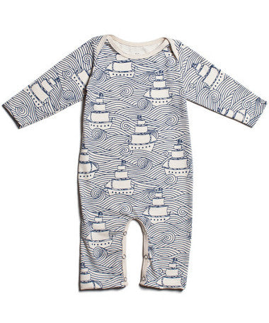 High seas pirate ships organic baby clothes | Winter Water Factory