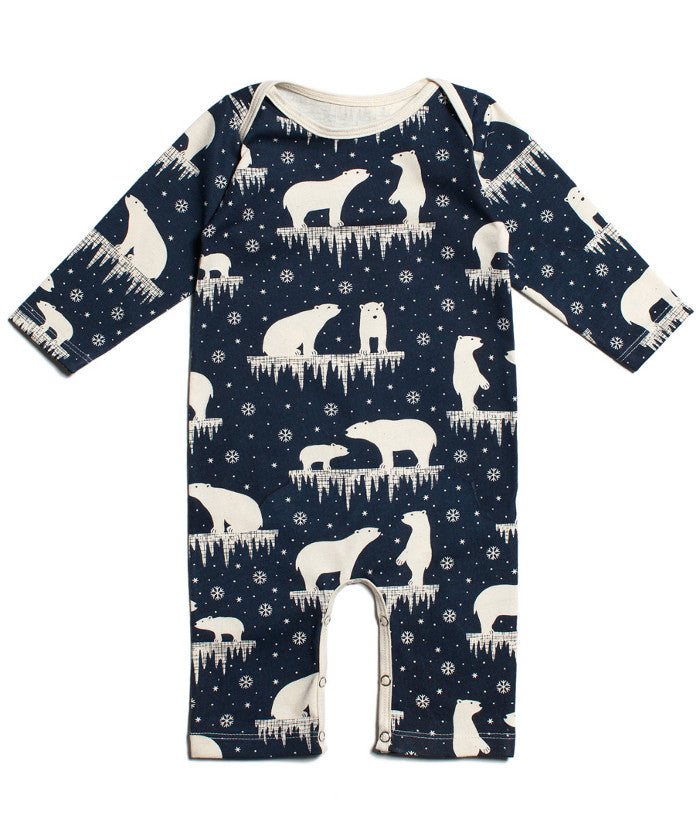 Polar Bears Romper Organic Baby Clothes Made In Usa Two Crows