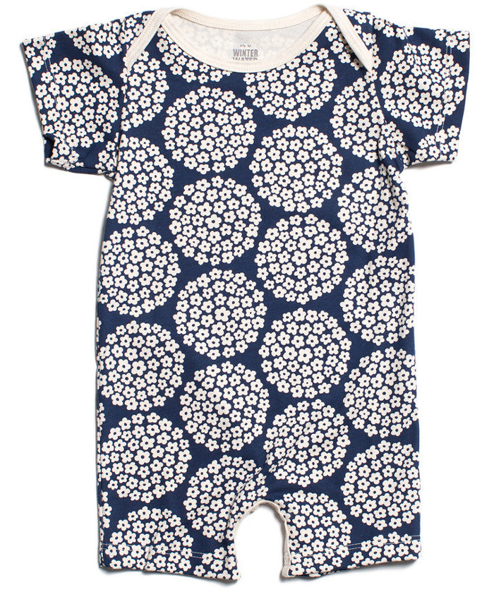 Flower dots romper