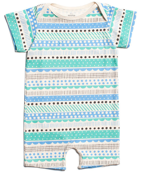 Geo stripes romper