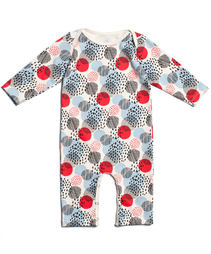 Modern dots baby one piece romper | Winter Water Factory