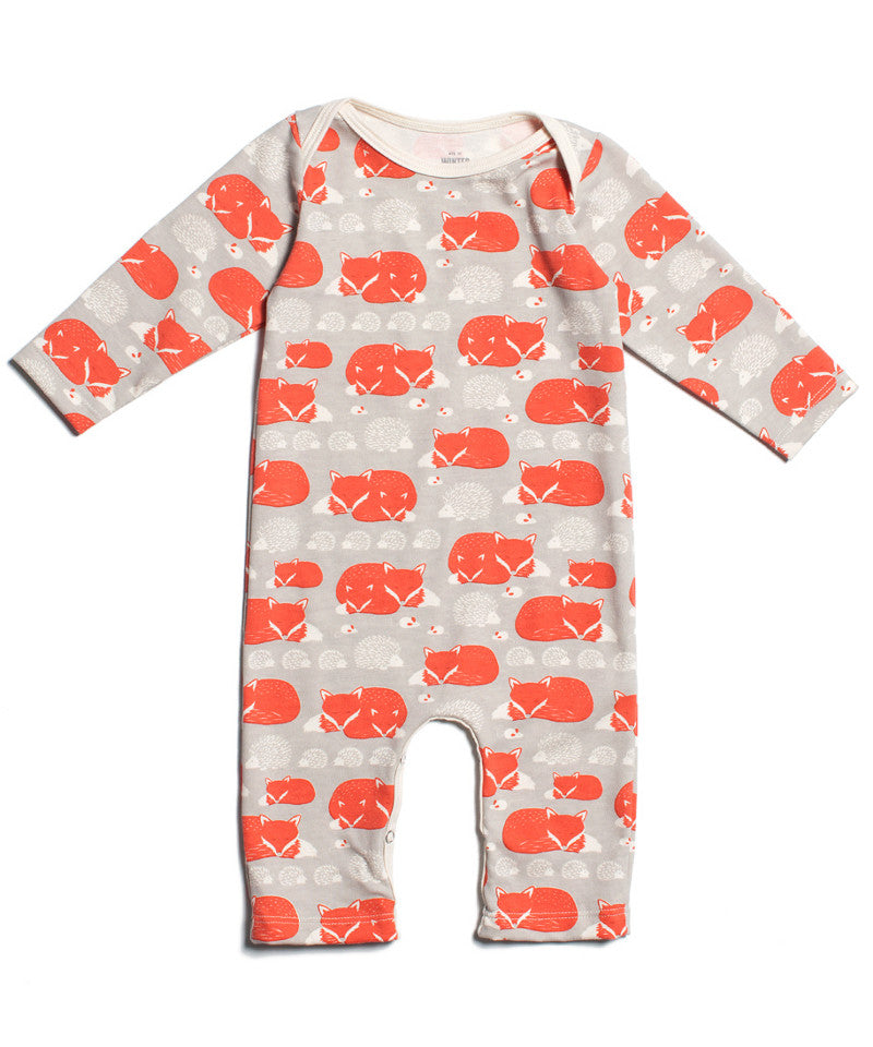 Fox and hedgehog organic baby one piece | Made in USA