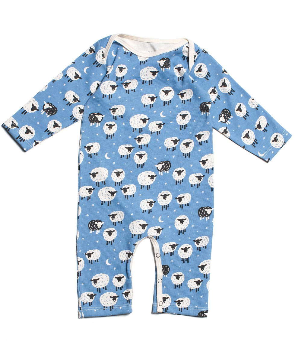 Counting Sheep Romper Organic Made In Usa Baby Clothes Two Crows