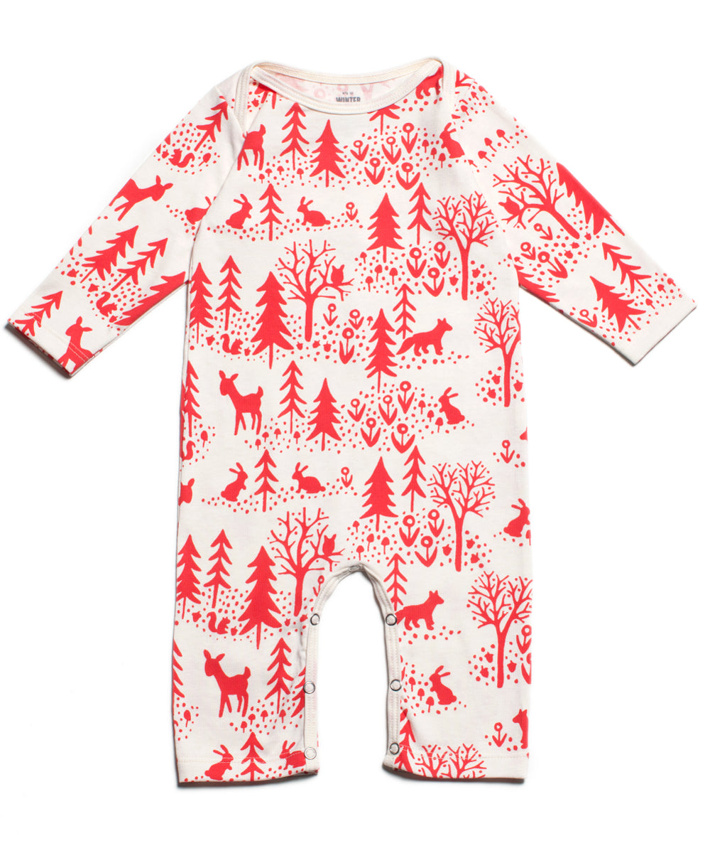 Winter scene romper