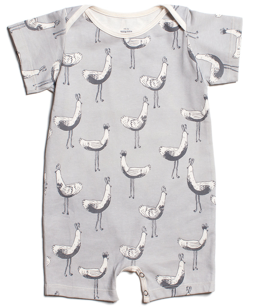 Bird parade romper