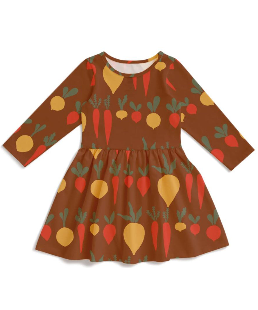 Root vegetables dress