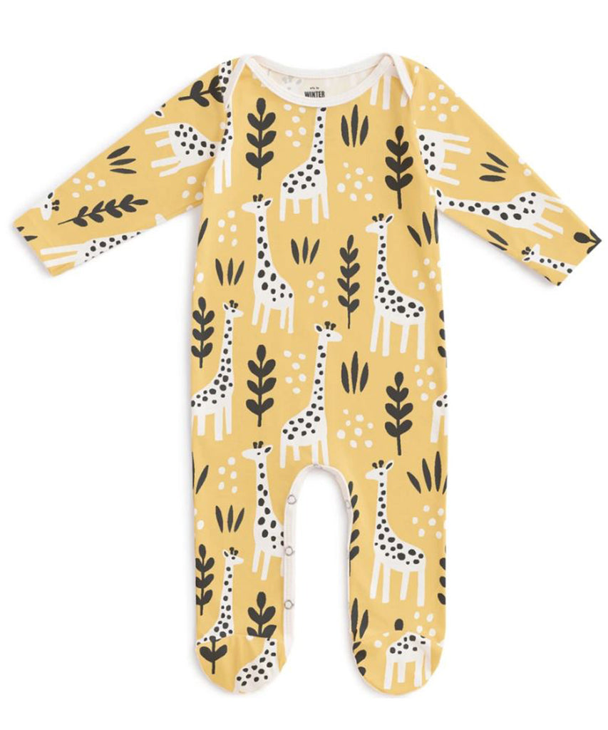 Giraffes footed romper