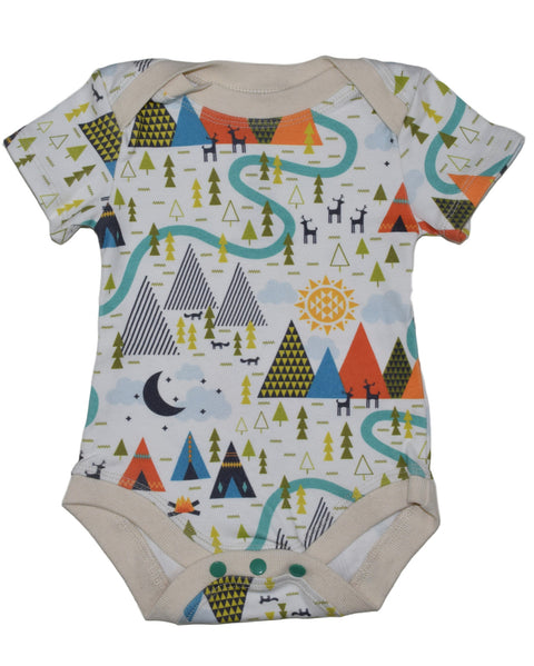 Organic cotton baby one piece made in USA