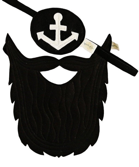 Pirate set beard and eyepatch