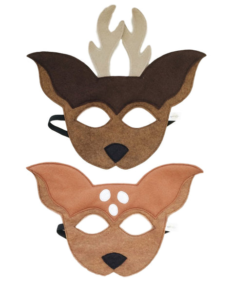 Buck and Doe deer mask