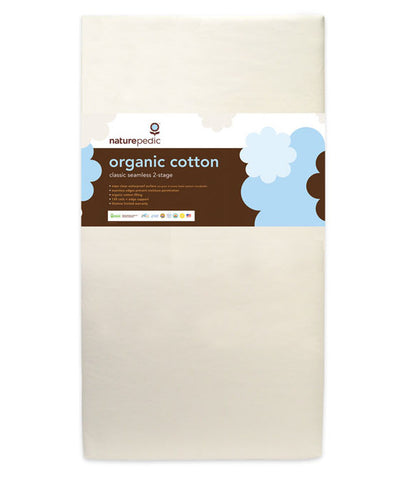 Organic cotton classic 150 seamless 2-stage crib mattress