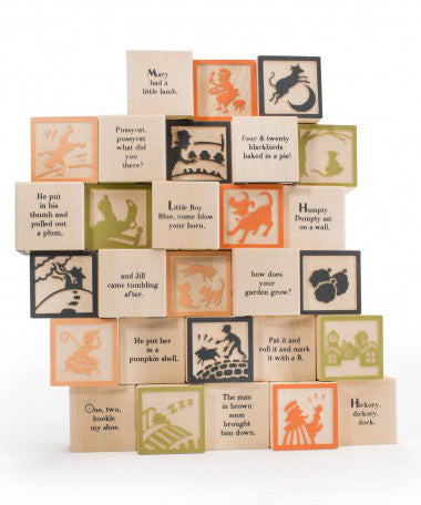 Made In Usa Baby Blocks Nursery Rhyme Two Crows For Joy