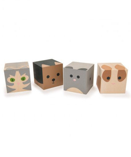 Cubelings pets sustainable wooden blocks made in USA