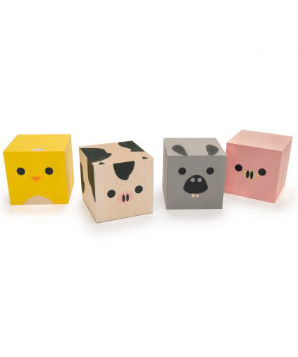 Uncle Goose cubelings farm animal wooden blocks | made in USA