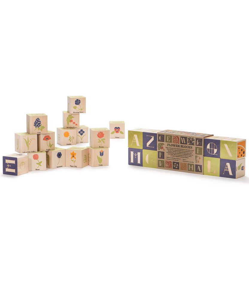 Made in usa baby blocks toys two crows for joy flower blocks gamestrikefo Choice Image