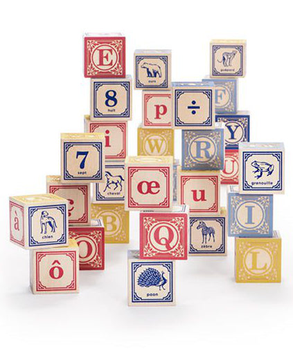 French foreign language wooden blocks | Uncle Goose