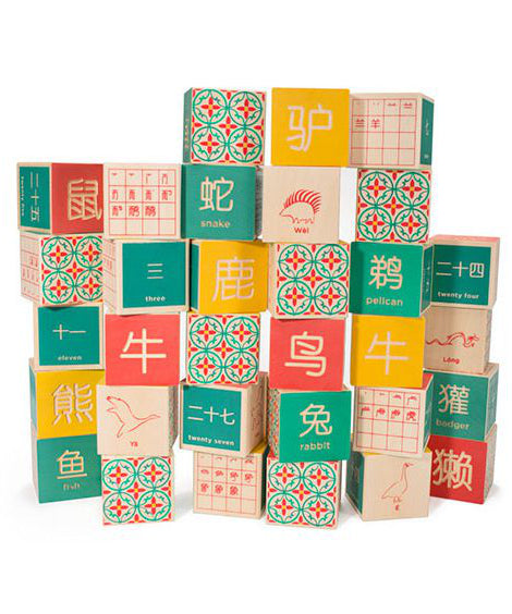 Chinese foreign language wooden blocks | Uncle Goose