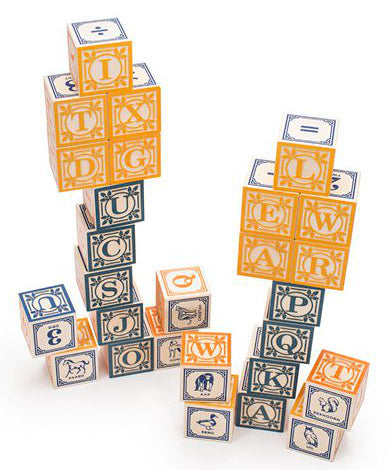 Dutch foreign language baby blocks | Uncle Goose