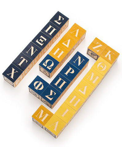 Greek foreign language wooden blocks | Uncle Goose