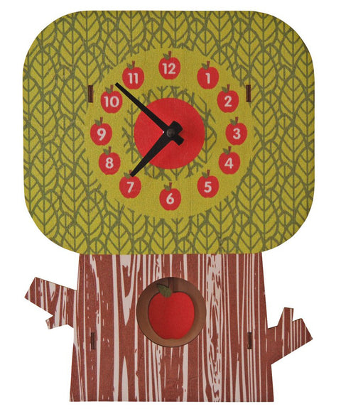 Apple tree pendulum clock