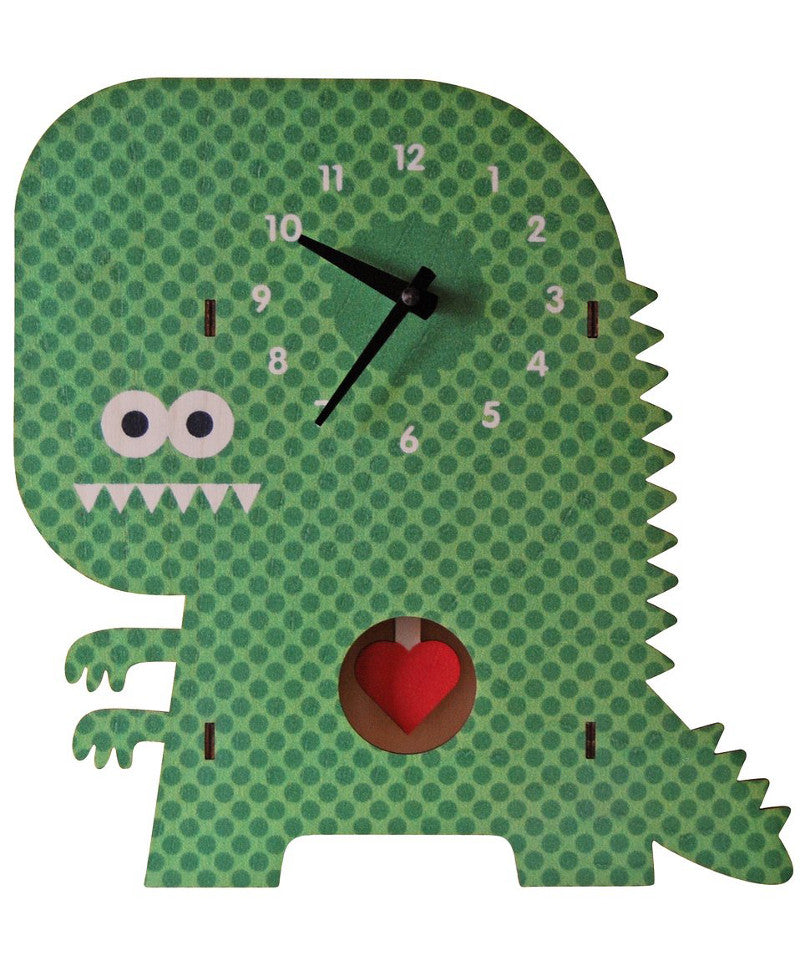 Clockzilla wooden kids room pendulum clock | Made in USA