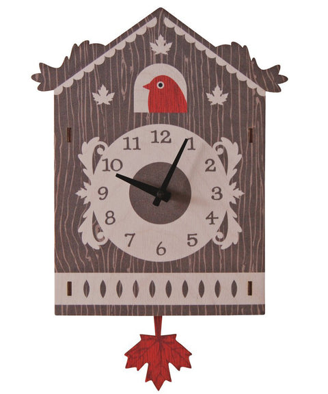 Cuckoo wooden kids room pendulum clock | Made in USA