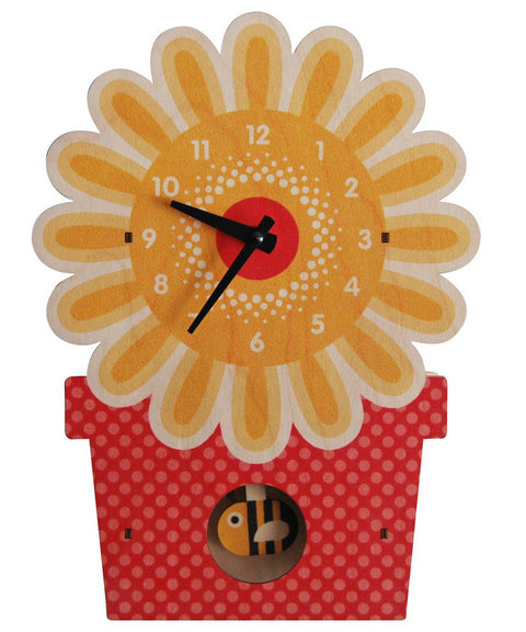 Flower pot pendulum clock