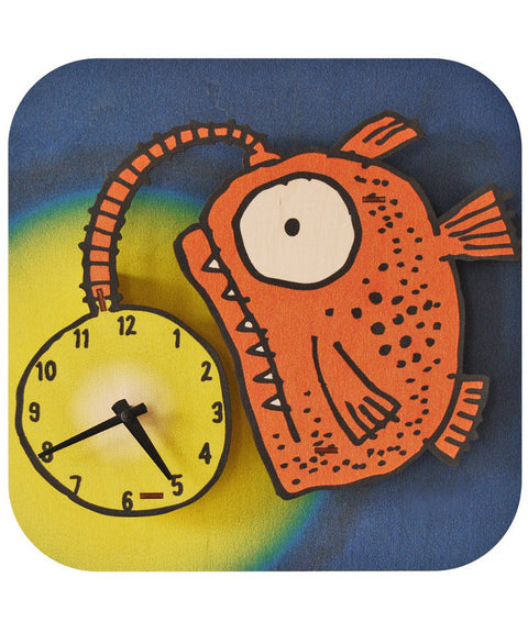 Glowfish wooden clock | Made in USA