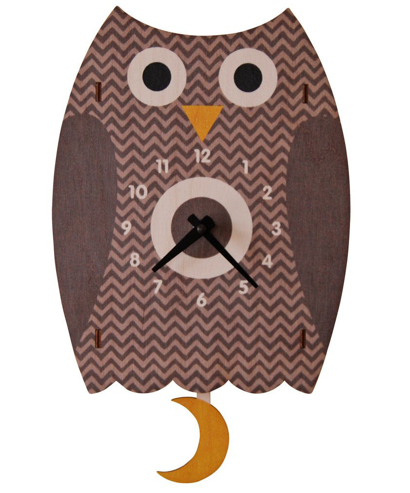 Owl wooden children's room clock | Made in USA