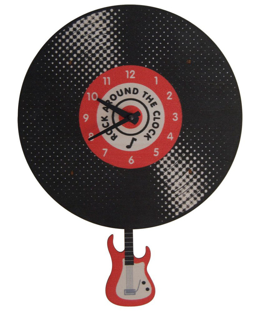 Record rock and roll kids wall clock | Made in USA