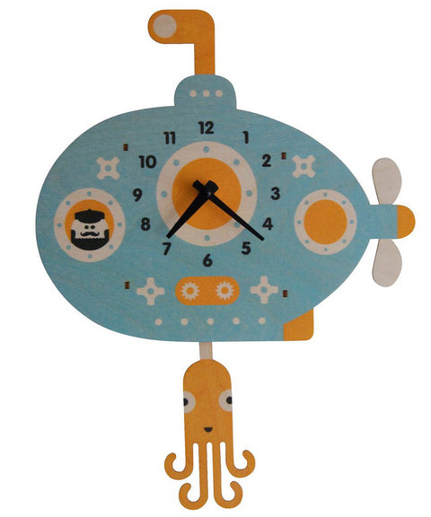Submarine wooden pendulum clock | Made in USA