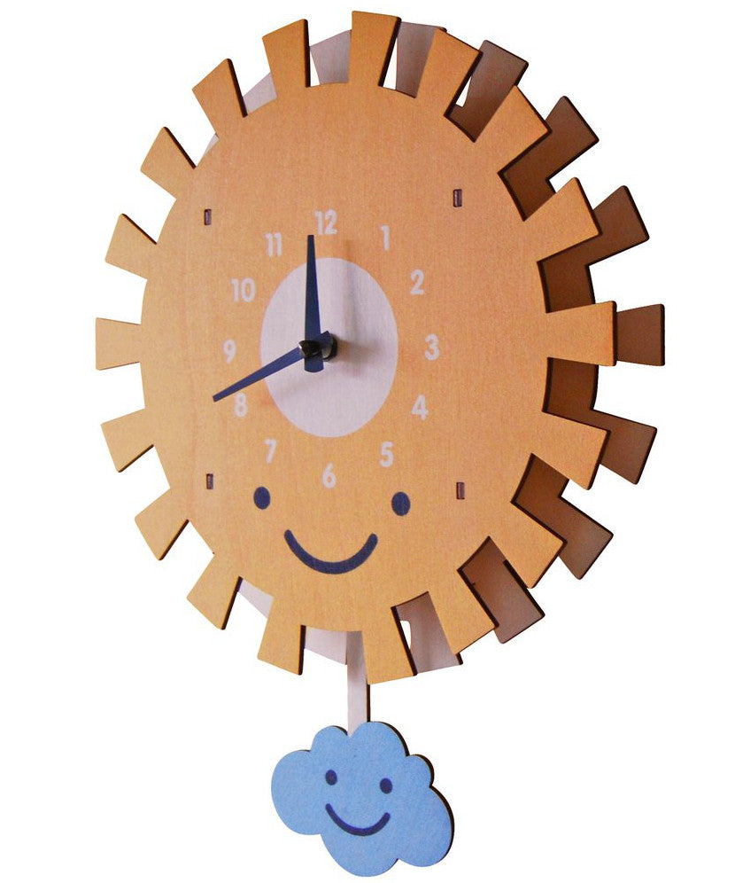American made wooden clocks for childrens nursery rooms two sun pendulum clock amipublicfo Images