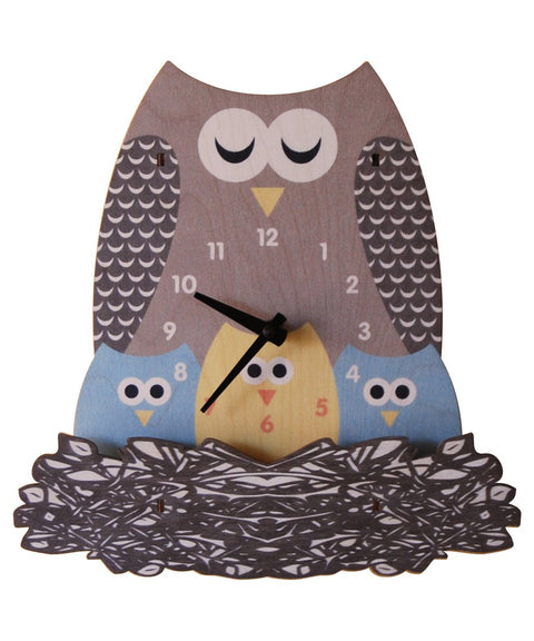 Nest owl clock