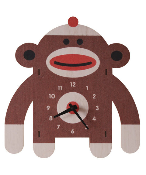 Sock monkey clock