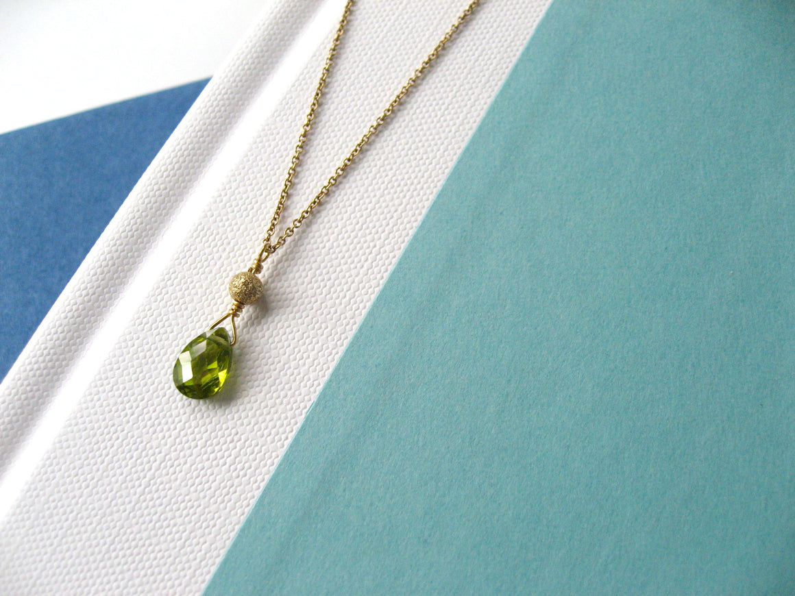 Peridot Green Sparkler Necklace