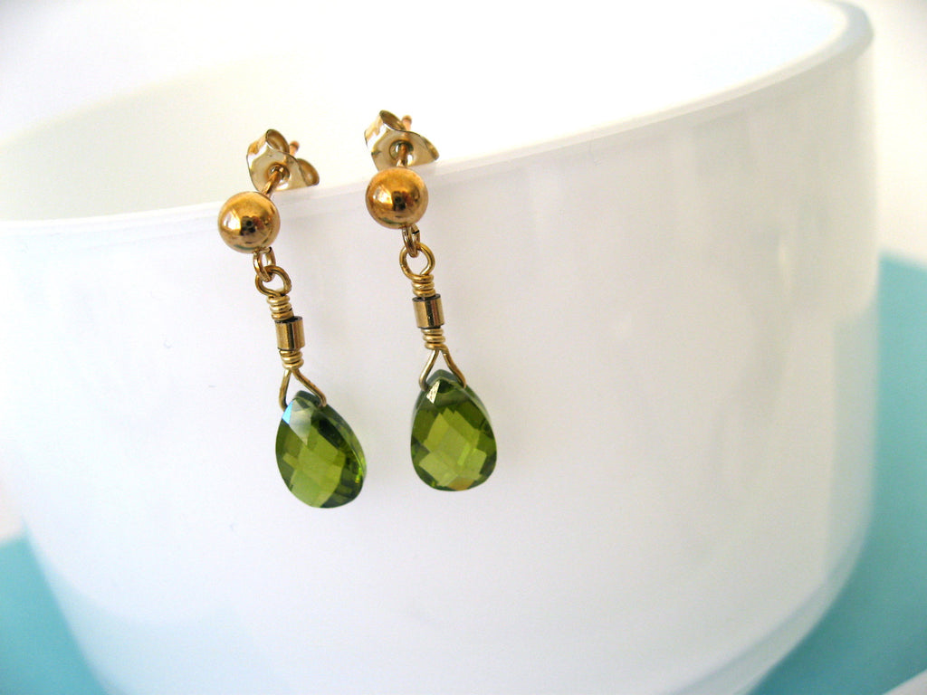 Olivine Sparkler Earrings
