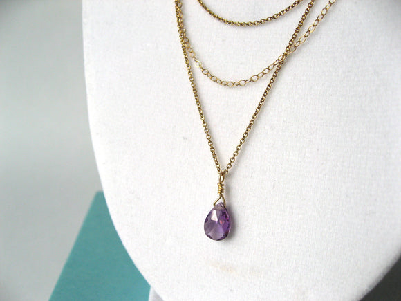 Purple Beach Layered Necklace
