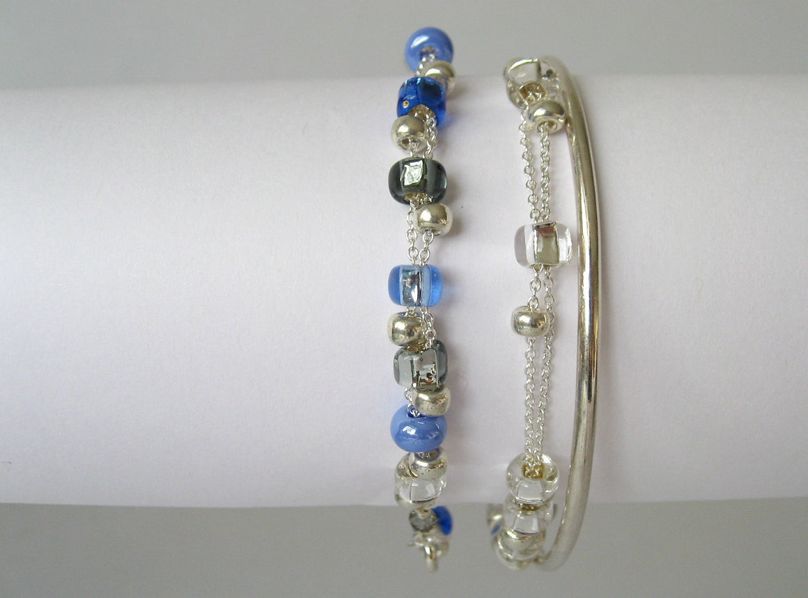 Styled with Silver Confetti Bracelet & other bracelet