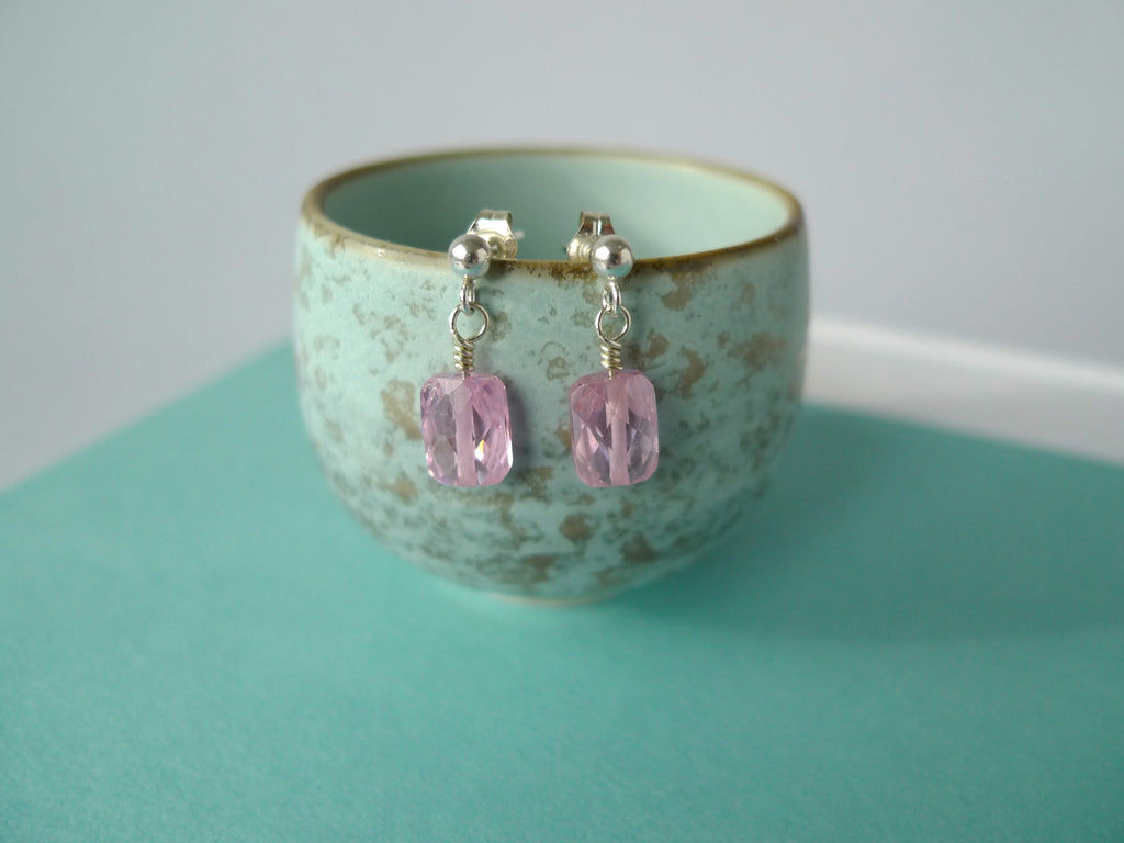 Pink Sparkler Earrings