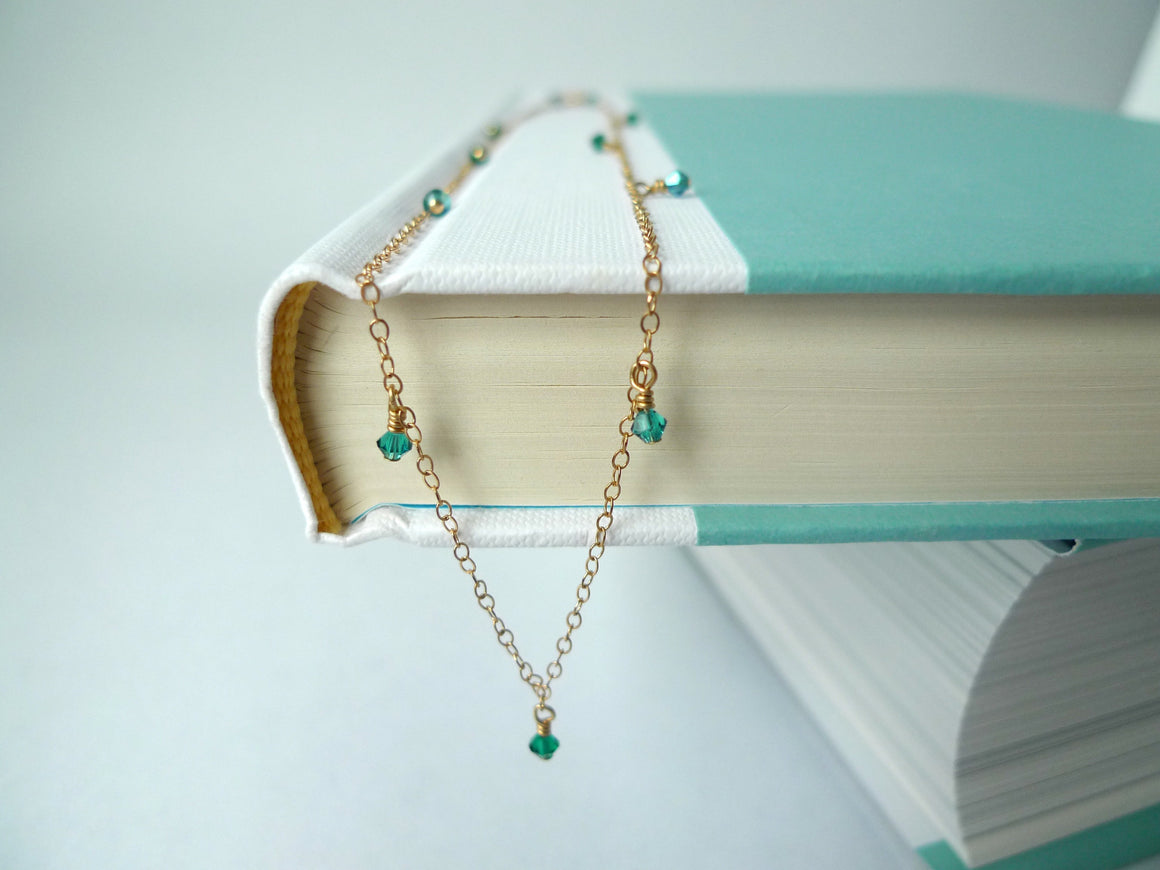 Green Station Necklace
