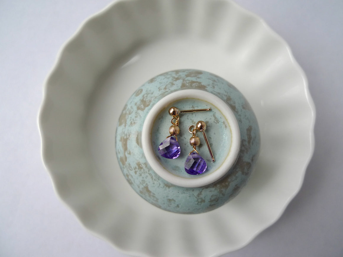 Paisley Purple Pastille Earrings
