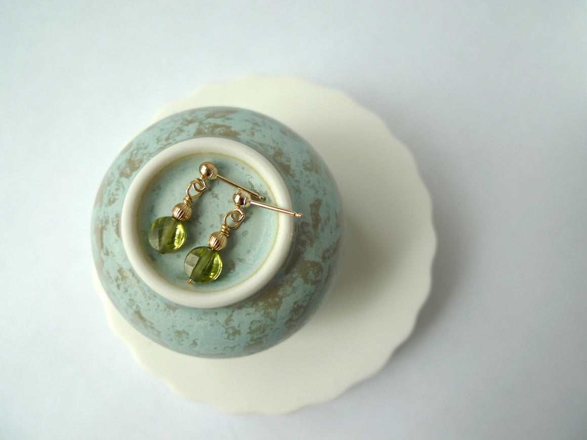 Peridot Fruit Pastille Earrings