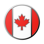 Canadian Flag Enamel, PopSockets