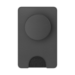 PopWallet+ Pebbled Vegan Leather Black, PopSockets