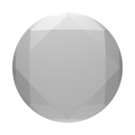 Metallic Silver Diamond, PopSockets