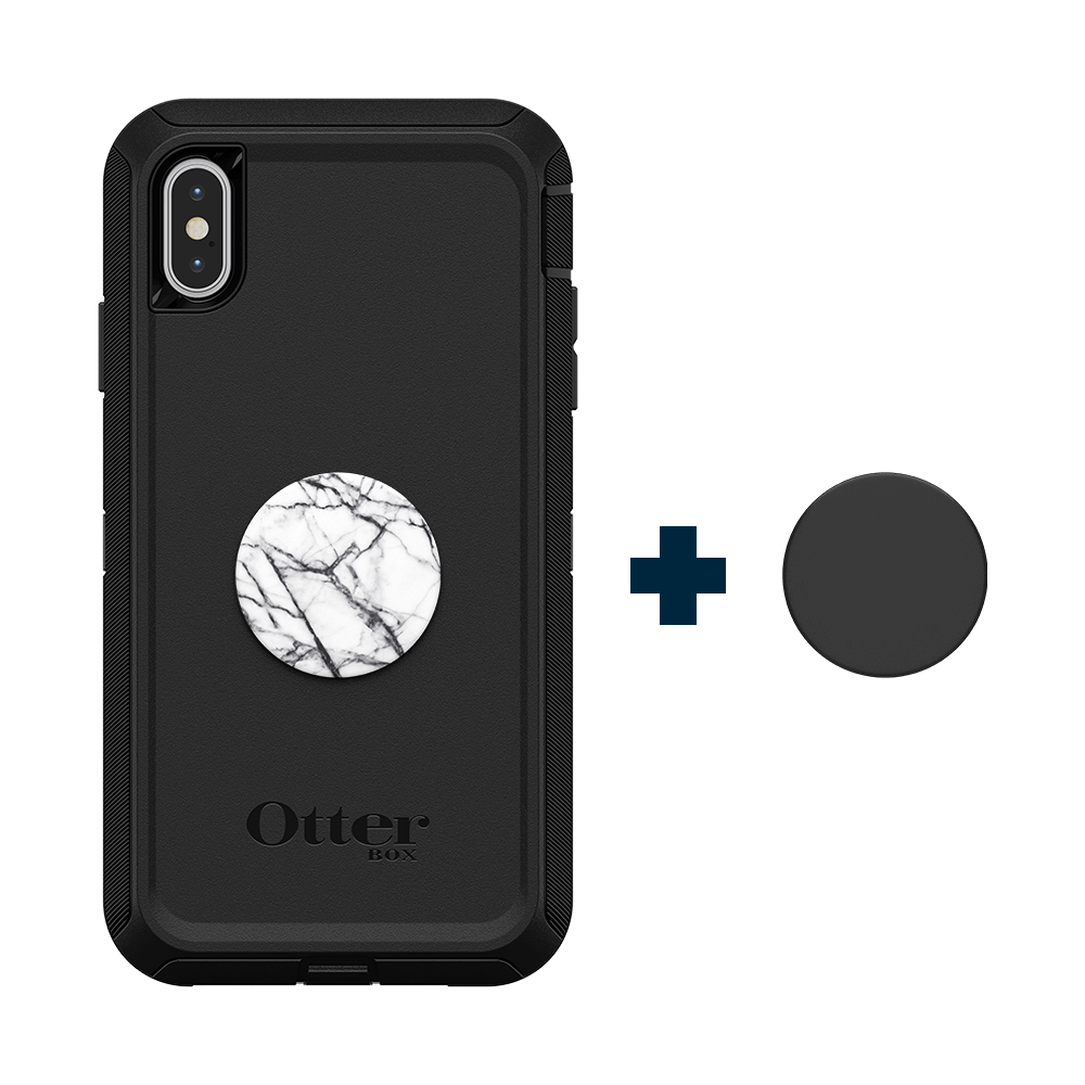 Otter + Pop Defender Series Case Black For IPhone XS Max, PopSockets
