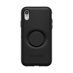 Otter + Pop Symmetry Series Case Black For  iPhone XR, PopSockets