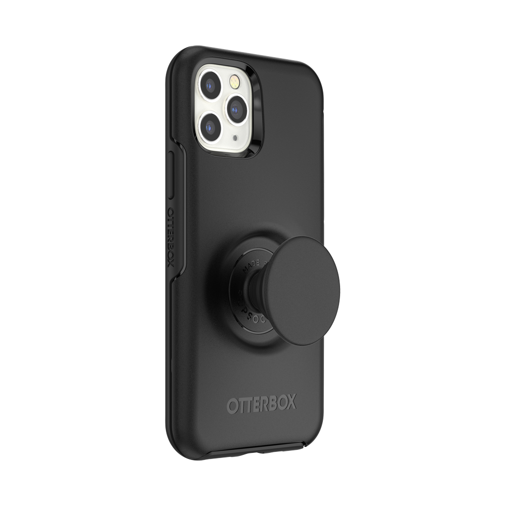 Otter + Pop Symmetry Series Case Black For  iPhone 11 Pro, PopSockets